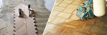 Reparaturen an Parkett- und Dielenböden - Sanierung, Schleifen, Versiegeln, Ölen / Wachsen und Einfärben - Parkett Schäfer