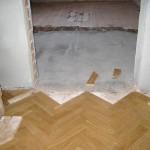 Reparatur eines Parkettbodens - Der alte Boden ist entfernt - Parkett Schäfer - Ihr Parkettspezialist in Sohland an der Spree